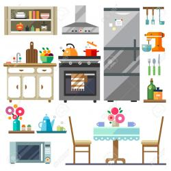Furniture clipart kitchen room