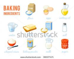 Flour clipart ingredient