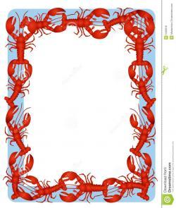 Crawfish clipart border