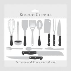 Cutlery clipart kitchen utensil