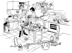 Kitchen clipart danger