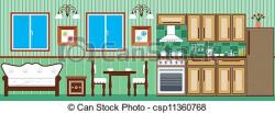 Kitchen clipart dining room
