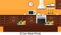 Kitchen clipart kitchen background