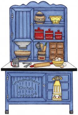 Kitchen clipart kitchen cupboard