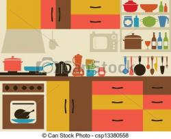 Kitchen clipart kitchen scene