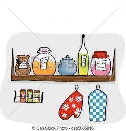 Kitchen clipart kitchen shelf
