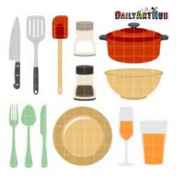 Plate clipart kitchen stuff