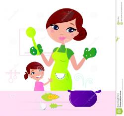 Kitchen clipart mom