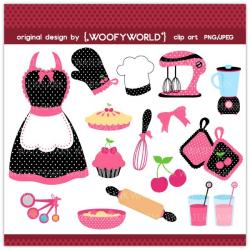 Frosting clipart pink apron