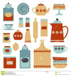 Kitchen clipart retro kitchen