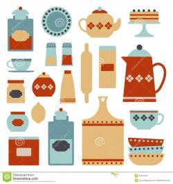 Kitchen clipart retro kitchen