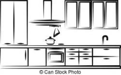 Kitchen clipart simple