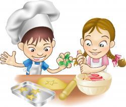 Baking clipart kids cook