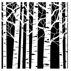Birch clipart long tree