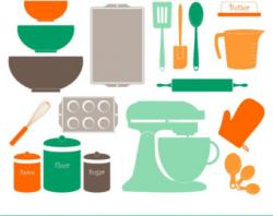 Kitchen clipart vintage kitchen