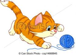 KITTENS clipart playful