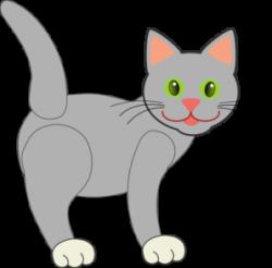 Tabby Cat clipart gray cat