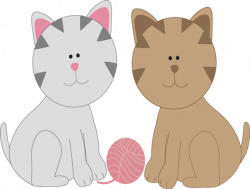 KITTENS clipart brown cat