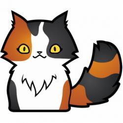 Calico Cat clipart cartoon