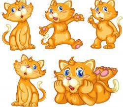 KITTENS clipart ginger cat