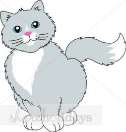 KITTENS clipart gray cat