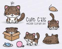 KITTENS clipart kawaii cat
