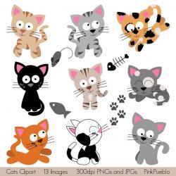 Calico Cat clipart traceable