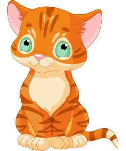 KITTENS clipart orange cat
