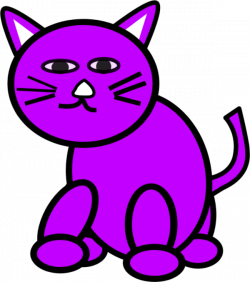 KITTENS clipart purple