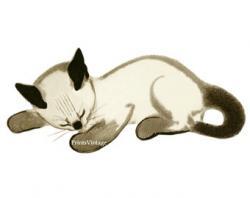 Siamese Cat clipart sleepy