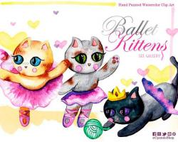 KITTENS clipart romantic