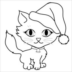 KITTENS clipart santa claus