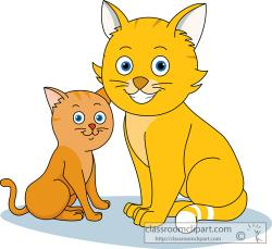 KITTENS clipart simple cat