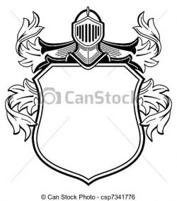 Knight clipart crest