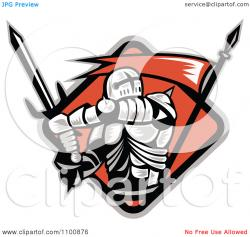 Knight clipart flag