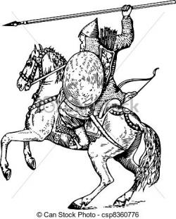 Knight clipart horse drawing