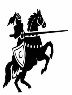 Knight clipart horse logo