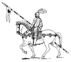 Knight clipart horse sketch