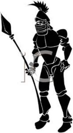 Spear clipart silhouette