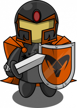 Knight clipart orange
