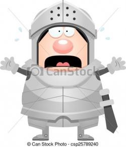 Knight clipart scared