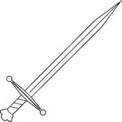 Dagger clipart drawn