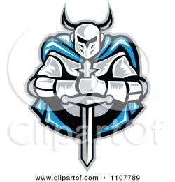 Knight clipart sword logo design