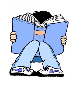 Knowledge clipart book report