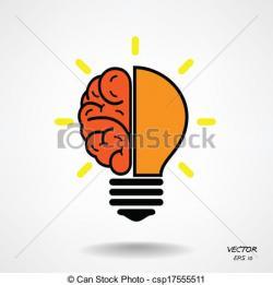Knowledge clipart creative brain