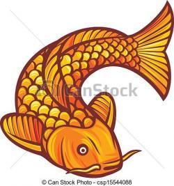 Drawn koi carp chinese fish