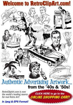 Advertisement clipart retro