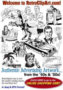 Advertisement clipart retro