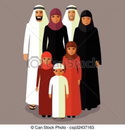 Arab clipart arab family