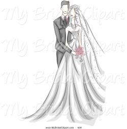 Rear clipart bride and groom